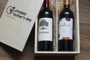 Personalised Father's Day Luxury Red Wine Gift Set